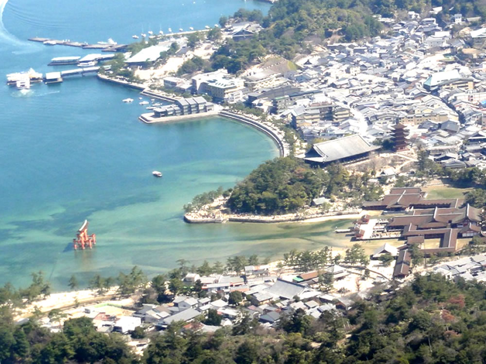 Birds-eye view of Itsukushima Shrine
