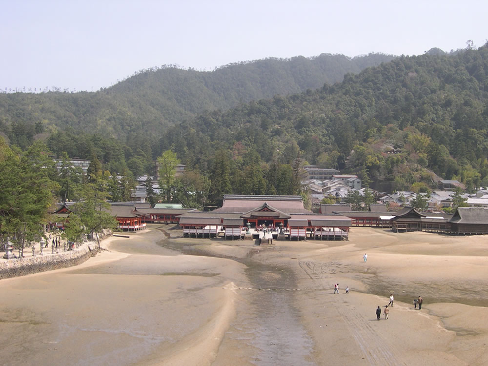 Itsukushima Shrine seen from Ōtorii