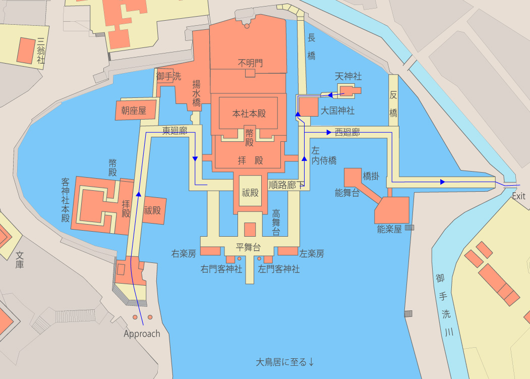 Itsukushima Shrine Map